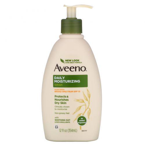 Aveeno, Active Naturals, Daily Moisturizing Lotion, SPF15, 12 fl oz