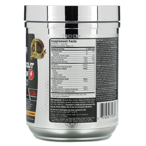 Six Star, Pre-Workout Explosion, Ripped, Peach Mango, 6.10 oz (173 g)