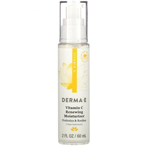 Derma E, Увлажнитель с омолаживающим эффектом с витамином C, пробиотиками и ройбушем, 2 жидк. унции (60 мл)