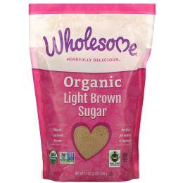Wholesome Sweeteners, Inc., Органический легкий коричневый сахар, 1.5 фунта (680 г)