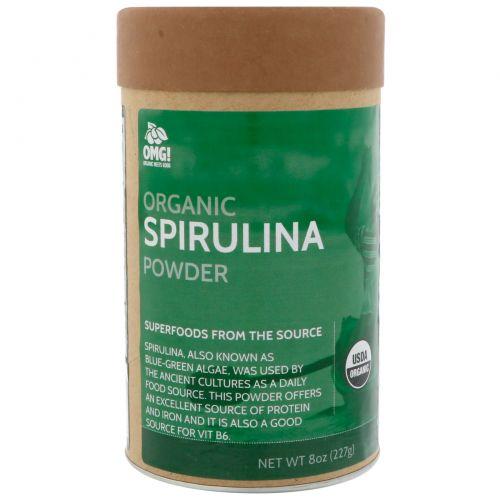 OMG! Organic Meets Good, Органический порошок спирулины, 8 унц. (227 г.)