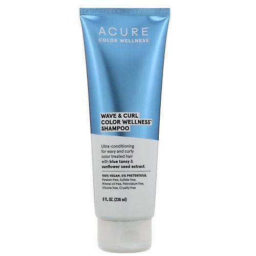 Acure, Wave & Curl Color Wellness, шампунь для волнистых и кучерявых волос, 236мл (8жидк.унций)