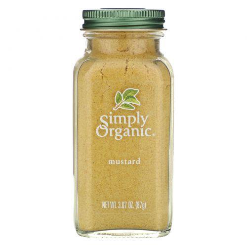 Simply Organic, Горчица, 3.07 унций (87 г)