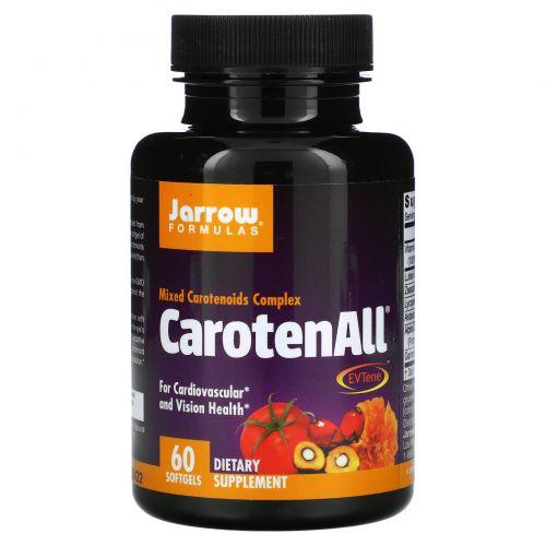 Jarrow Formulas, CarotenALL, комплекс из смеси каротиноидов, 60 мягких капсул