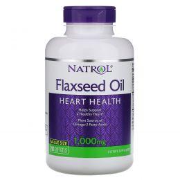 Natrol, Льняное масло, здоровье сердца, 1000 мг, 200 мягких таблеток