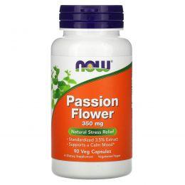 Now Foods, Экстракт страстоцвета, 350 мг, 90 Вегетарианских капсул