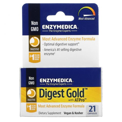 Enzymedica, Digest Gold с ATPro, 21 капсула
