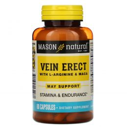 Mason Naturals, Vein Erect с L-аргинином и макой, 80 капсул