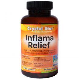 Crystal Star, Inflamma Relief (облегчение при воспалении), 60 вегетарианских капсул
