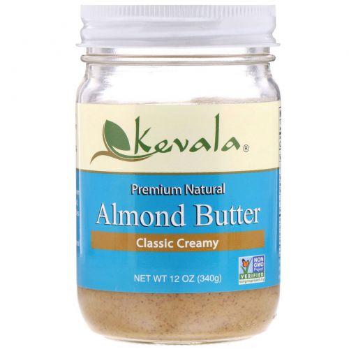 Kevala, Миндальное масло, классическое кремовое, 12 унций (340 g)