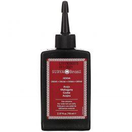 Surya Henna, Крем с хной, Окрашивание & кондиционирование волос, Красное дерево, 2.37унций (70 мл)