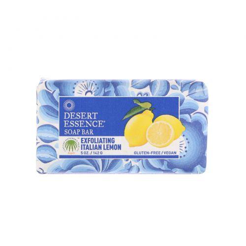 Desert Essence, Мыло с итальянским лимоном, Отшелушивающее действие, 5 унций (155,5 г)