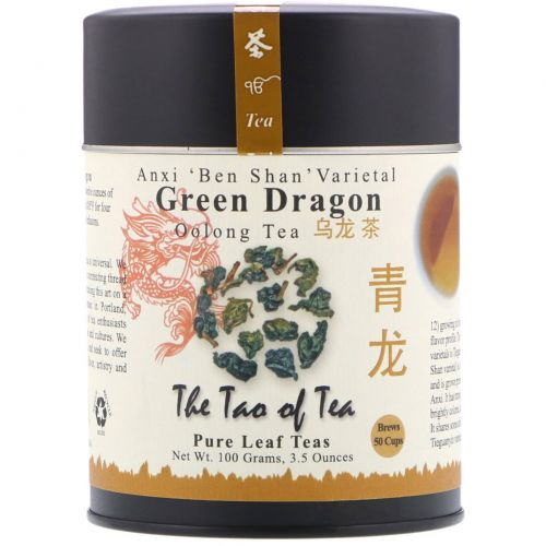 """The Tao of Tea, Чай улун """"Зеленый дракон"""", 3.5 унции (100 г)"""