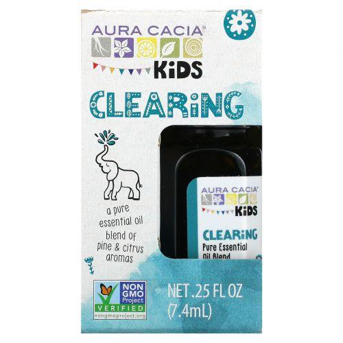 Aura Cacia, Kids, Pure Essential Oil, Clearing, .25 fl oz (7.4 ml)
