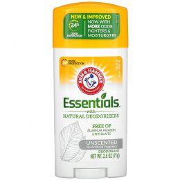 Arm & Hammer, Essentials Natural Deodorant, Unscented, 2.5 oz (71 g)