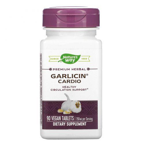 Nature's Way, Экстракт чеснока, без запаха, здоровье сердечно-сосудистой системы, 90 кишечнорастворимых таблеток в оболочке