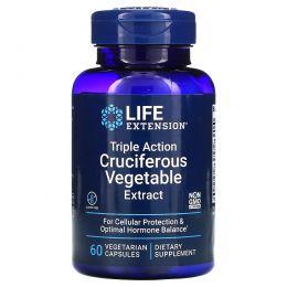 Life Extension, Экстракт крестоцветных овощей тройного действия, 60 вегетарианских капсул
