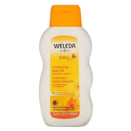 Weleda, Детское масло с календулой, 6,8 жидких унций (200 мл)