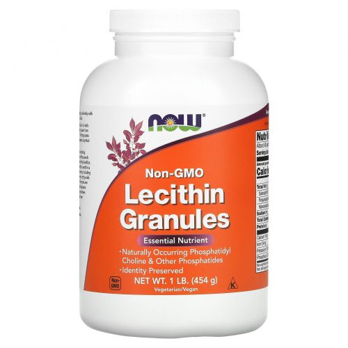Now Foods, Лецитин в гранулах, без ГМО, 1 lb (454 г)