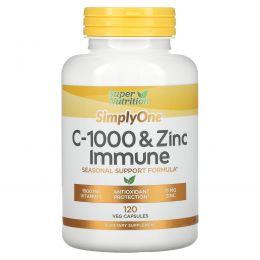 Super Nutrition, C-1000 & Zinc Immune, 120 Veg Capsules