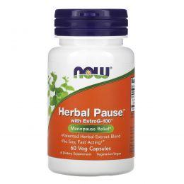 Now Foods, Herbal Pause с EstroG-100, 60 растительных капсул