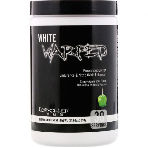 Controlled Labs, White Warped, Preworkout, Candy Apple Sour, 11.64 oz (330 g)