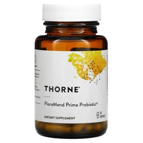 Thorne Research, FloraMend Prime Probiotic, пробиотик 30 овощных капсул