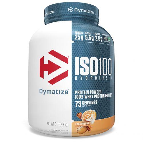 Dymatize Nutrition, ISO-100 гидролизируемый, 100% изолят сывороточного протеина, булочка с корицей, 5 фунтов (2,27 кг)