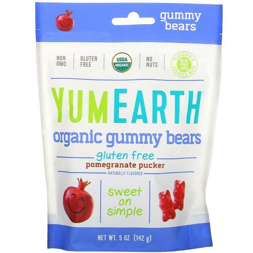 YumEarth, Gummy Bears, Pomegranate + Yum, 5 oz (140 g)