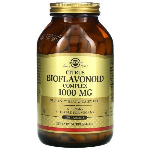 Solgar, Комплекс биофлавоноидов цитрусовых, 1000 мг, 250 таблеток