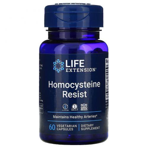 Life Extension, Поддержание уровня гомоцистеина, 60 растительных капсул