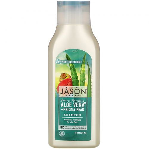 Jason Natural, Чистый, натуральный шампунь, Алоэ вера, 16 жидких унций (473 мл)
