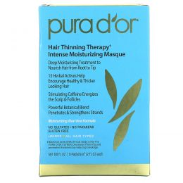 Pura D'or, Hair Loss Prevention Therapy Intense Moisturizing Masque, 8 packets of 1.5 fl oz
