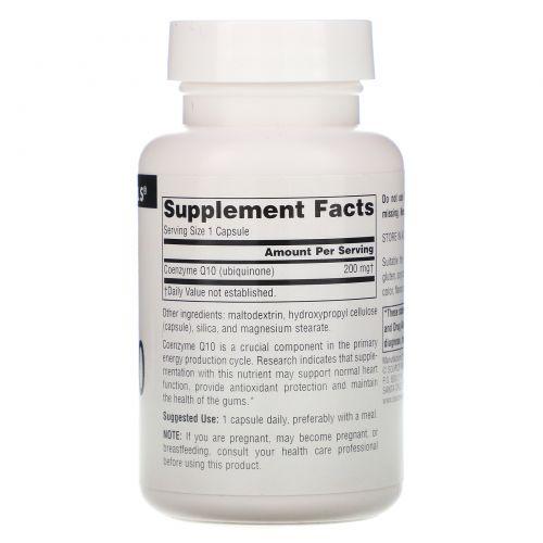 Source Naturals, Коэнзим Q10, 200 мг, 60 капсул