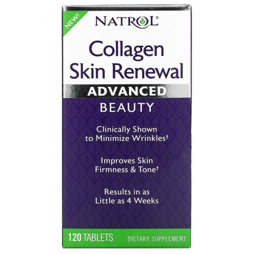 Natrol, Коллаген для восстановления кожи, 120таблеток