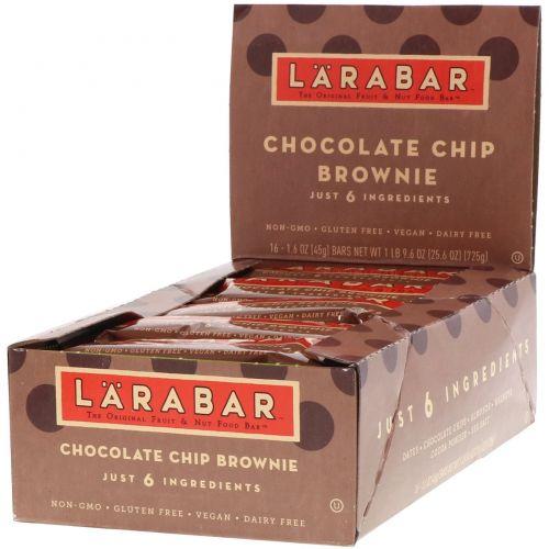 Larabar, Печенье с кусочками шоколада, 16 батончиков, 1,6 унции (45 г) каждый