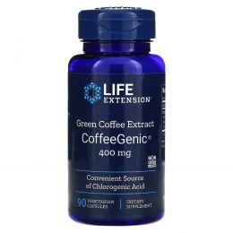 Life Extension, CoffeeGenic, экстракт зеленого кофе 90 овощных капсул