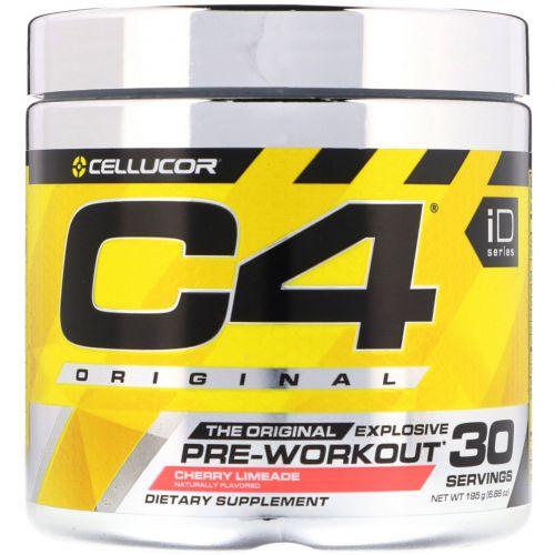 Cellucor, C4 Original для взрывной тренировки, перед тренировкой, вишневый лаймад, 6,3 унции (180 г)