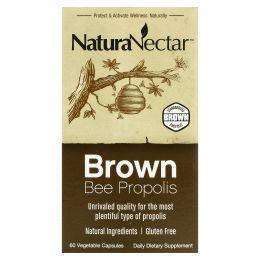 NaturaNectar, Коричневый пчелиный прополис, 60 капсул в растительной оболочке