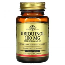 Solgar, Убихинол, 100 мг, 50 гелевых капсул