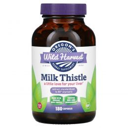 Oregon's Wild Harvest, Молочный чертополох, 180 вегетарианских капсул