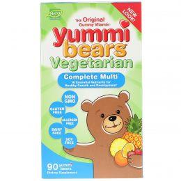 Hero Nutritional Products, Вкусные мишки, полный комплекс витаминов, вегетарианский продукт, вкус натуральных фруктов, 90 жевательных конфет в виде медвежат