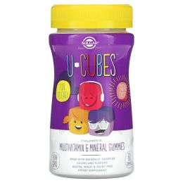 Solgar, U-Cubes, жевательные мультивитамины и минералы для детей, 60 жевательных конфет