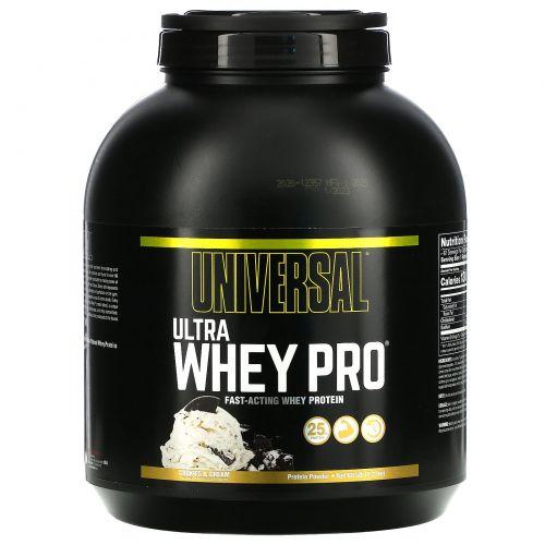 Universal Nutrition, Ultra Whey Pro, белковый порошок, печенье и крем, 2,27 кг (5 фунтов)