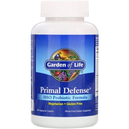 Garden of Life, Первичная защита, пробиотическая формула HSO, 180 капсул на растительной основе