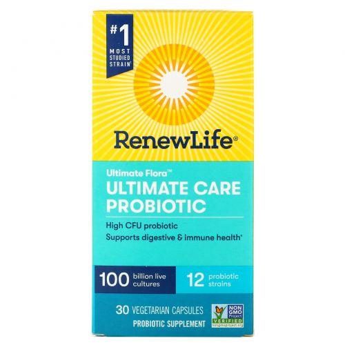 Renew Life, Ultimate Flora, Ultimate Care Probiotic, 30 Vegetarian Capsules