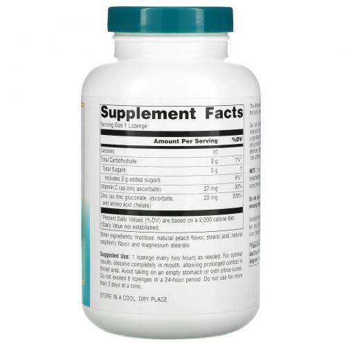 Source Naturals, Wellness, Цинковые пастилки, персик и малина, 23 мг, 120 пастилок