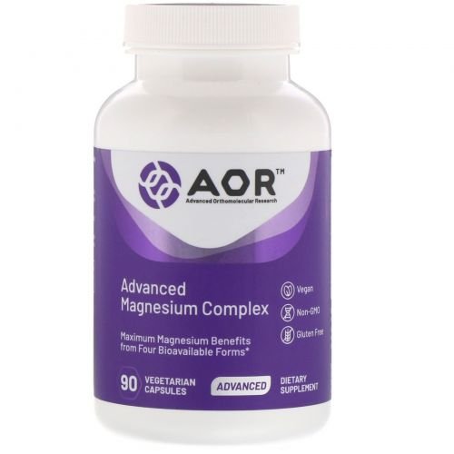 Advanced Orthomolecular Research AOR, Advanced Magnesium Complex, 90 Veggie Caps