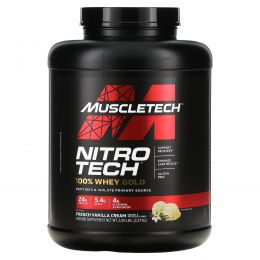 Muscletech, Nitro Tech 100% Whey Gold, French Vanilla Creme, 6.00 lbs. (2.72 kg)