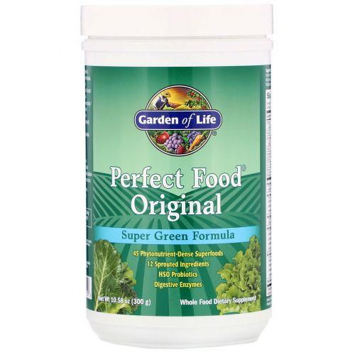 Garden of Life, Perfect Food Original, Супер Зеленая Формула 10.58 унции (300 г)